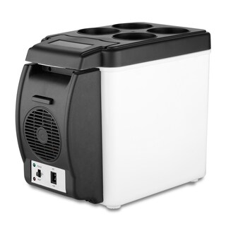 6 Liter Portable, Electronic Mini Car Refrigerator with Cup Holders