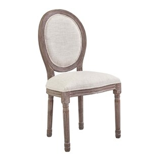 Emanate Vintage French Upholstered Fabric Dining Side Chair - n/a