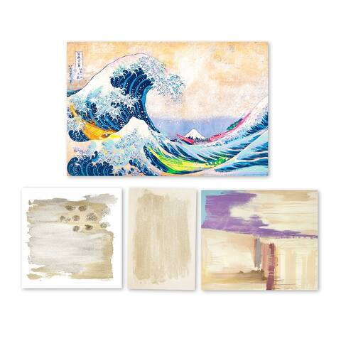 Oliver Gal 'Technicolor Waters - Set of 4' Canvas Art