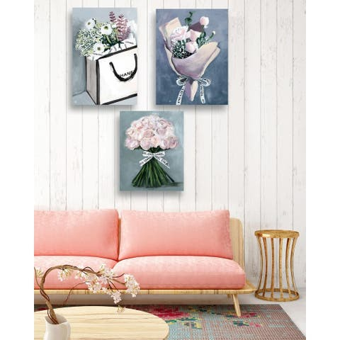 Oliver Gal 'The Perfect Delivery-Set of 3' Canvas Art