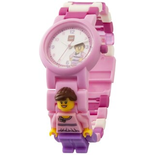 LEGO Classic Pink Kid's Interchangeable Links Minifigure Watch