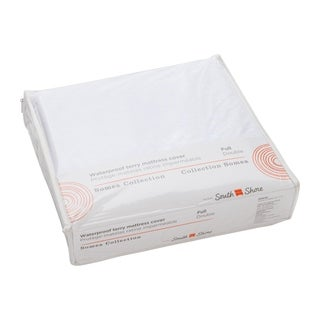 South Shore Somea White Waterproof Mattress Cover, Full Size