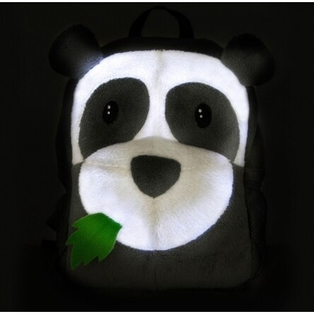 Ecogear Brite Buddies Panda Plush backpack with LED flashing lights