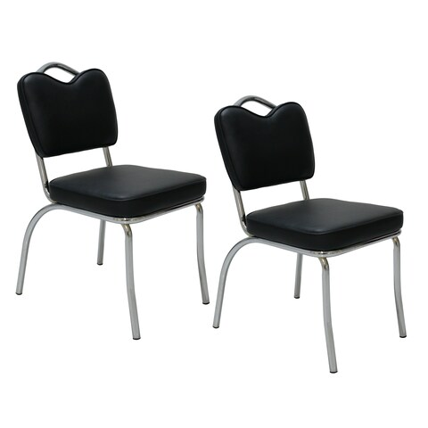 Porthos Home Retro 1950s Diner Style Dining Chairs, Set of 2