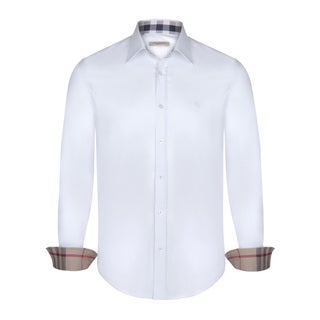 Men's Burberry White Dress Shirt