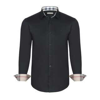 Men's Burberry Black Dress Shirt