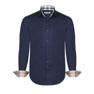 Men's Burberry Navy Dress Shirt (2 options available)