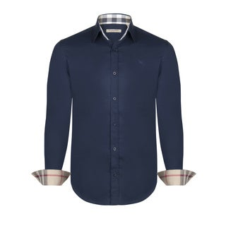 Men's Burberry Navy Dress Shirt