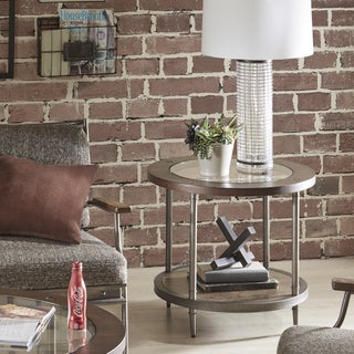 INK+IVY Desa Brown End Table