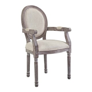 Emanate Vintage French Upholstered Fabric Dining Armchair - n/a