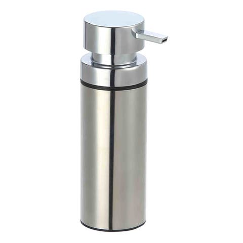 Home Basics Silver Stainless Steel Soap Dispenser