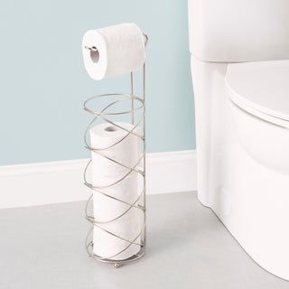 Home Basics Satin Nickel Swirl Toilet Paper Holder