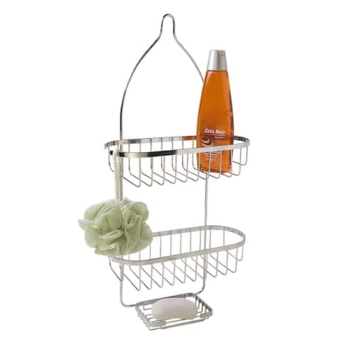 Home Basics Silver Plated Steel Shower Caddy