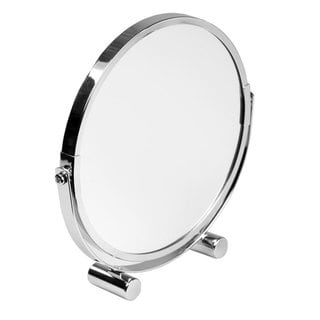 Home Basics Silver Round Cosmetic Mirror
