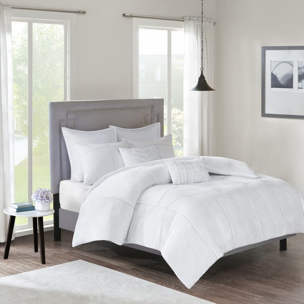 510 Design Talley White 7-piece Duvet Cover Set