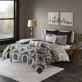 INK+IVY Orissa Grey Cotton 3-piece Comforter Set (2 options available)