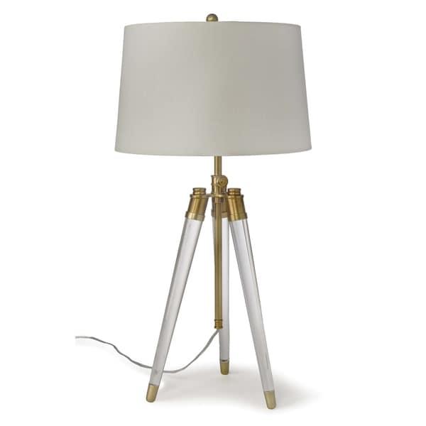 Regina Andrew Design Brigitte White Acrylic Natural Brass Table Lamp