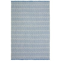 LR Home Trellis Blue/White Indoor/Outdoor Area Rug - 5' x 7'9