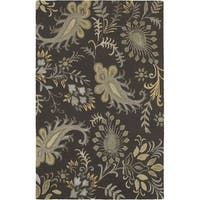 LR Home Glamour Smoke Grey/Multicolored Wool Area Rug - 9' x 12'