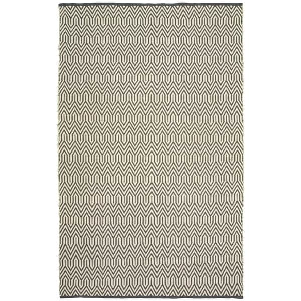 LR Home Grey Trellis Indoor/Outdoor Area Rug - 8' x 10'