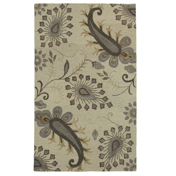 LR Home Glamour Light Gray Rectangle Indoor Area Rug (8'x 10) - 5' x 7'9