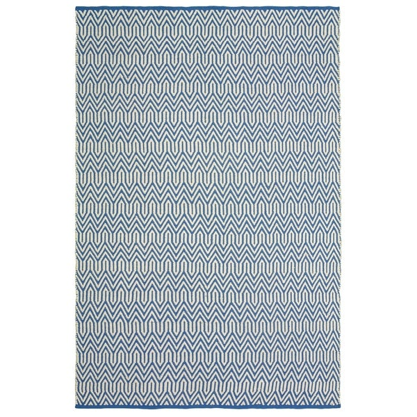 LR Home Blue Trellis Indoor/Outdoor Area Rug (8' x 10') - 5' x 7'9