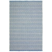 LR Home Blue Trellis Area Rug - 8' x 10'