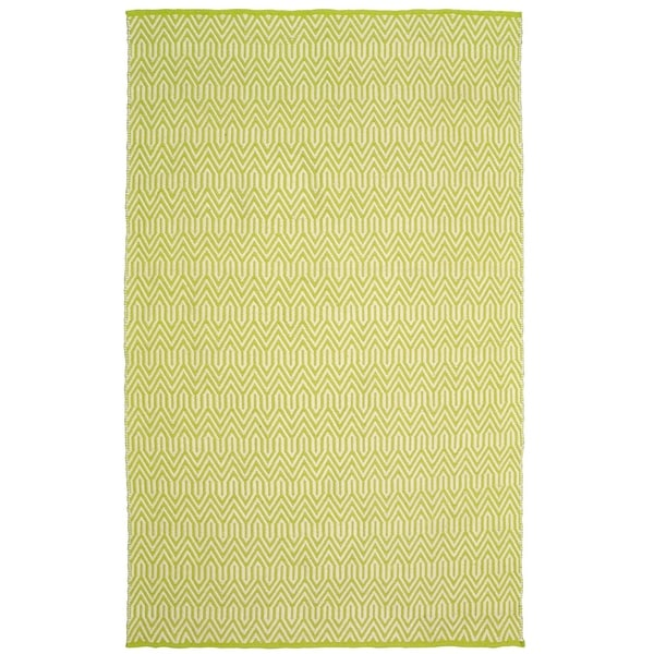 LR Home Green Trellis Area Rug - 8' x 10'