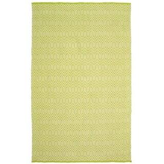 LR Home Green Trellis Indoor/Outdoor Area Rug(8' x10') - 5' x 7'9