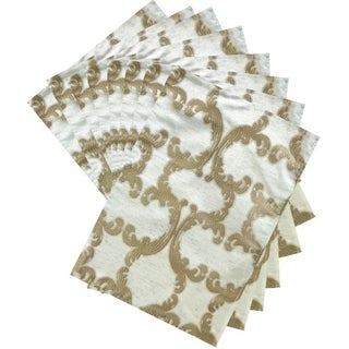 Dainty Home Scroll Printed Fabric Set of 8 Placemats