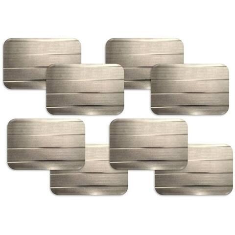 Dainty Home Park Avenue Rectangular Set of 8 Reversible Metallic Placemats