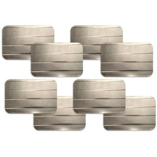 Dainty Home Park Avenue Rectangular Set of 8 Reversible Metallic Placemats