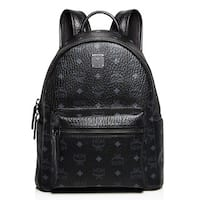 MCM Stark Medium Black Backpack