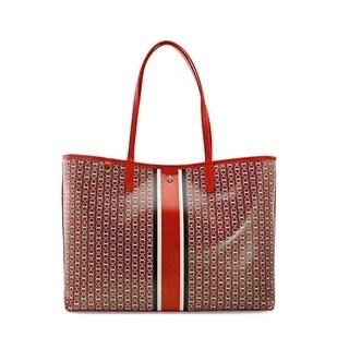 Tory Burch Gemini Link Exotic Red Tote Bag