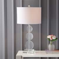 "Paisley 29.5"" Crystal LED Table Lamp, Clear"