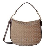 COACH Chelsea 32 Signature Brown Hobo Handbag