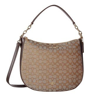 COACH Chelsea 32 Signature Brown Hobo Handbag