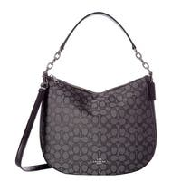 COACH Chelsea 32 Signature Black Hobo Handbag