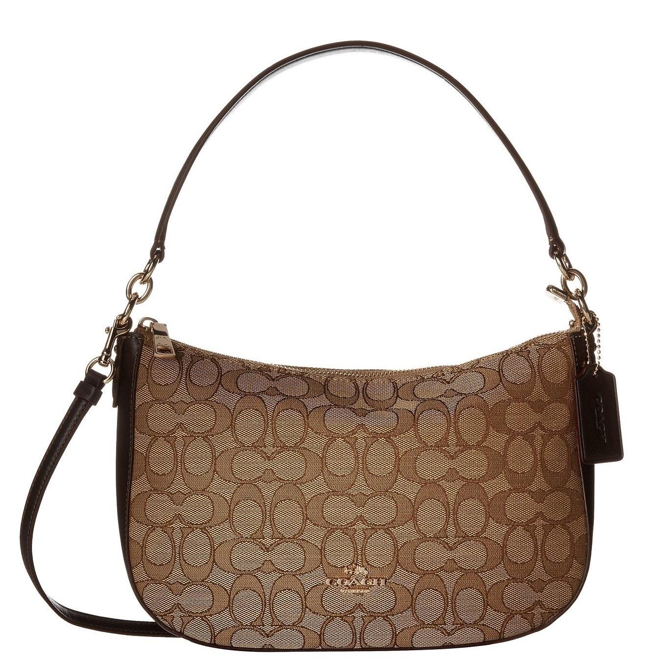 0ea71b03b ... shoulder bag 37e4d e8463; cheap coach chelsea signature brown crossbody  handbag 838d6 0362d