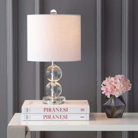 "Brooklyn 17.5"" Crystal LED Table Lamp, Clear by JONATHAN Y"