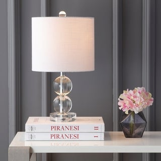 "Brooklyn 17.5"" Crystal LED Table Lamp, Clear"
