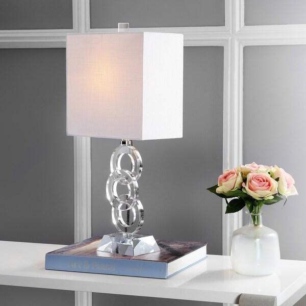 "Riley 22.5"" Crystal LED Table Lamp, Clear"