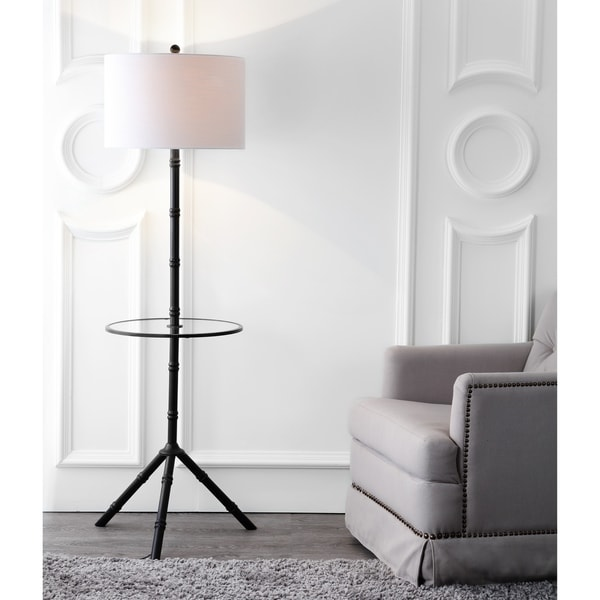 "Hall 62"" Metal LED End Table Floor Lamp, Bronze"