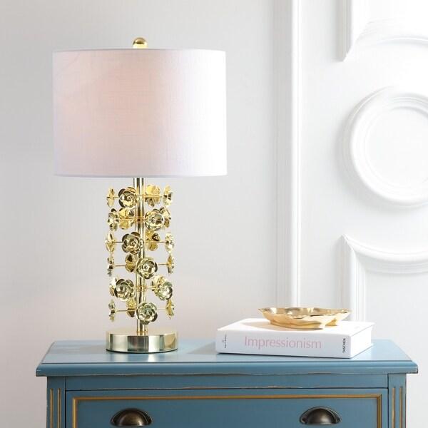 "Flora 25.5"" Resin/Metal LED Table Lamp, Gold"