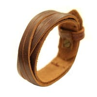 Genuine Leather Brown Cuff Bracelet