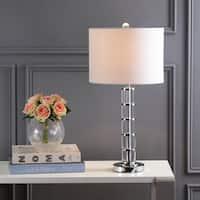 """Hailey 26"""" Crystal Table Lamp, Clear/Chrome by JONATHAN  Y"""