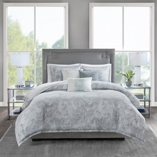 Madison Park Nowell Cotton Sateen 6 Piece Cotton Sateen Duvet Cover Set 2-Color Option