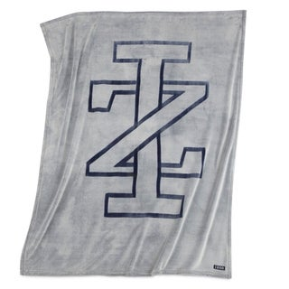 IZOD Grey Logo Throw