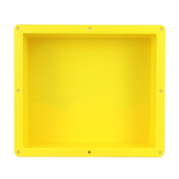 """Ready For Tile Waterproof Leak Proof 16"""" x 14"""" Square Bathroom Recessed Shower Niche - Flush Mount Installation"""
