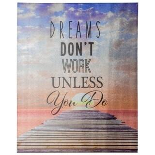 Dreams Motivational Inspirational Canvas Print